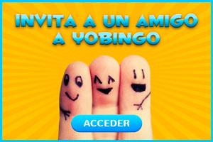 Invita a tus amigos a Yo Bingo